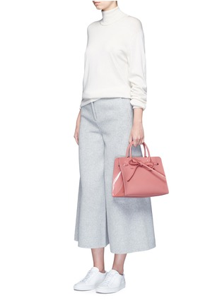 Front View - Click To Enlarge - Mansur Gavriel - 'Mini Sun' patent leather drawstring tote