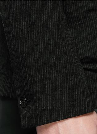 细节 - 点击放大 - ATTACHMENT - 条纹混棉西服外套