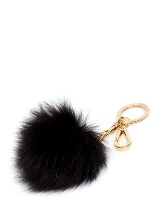 Detail View - Click To Enlarge - Michael Kors - Faux fur pompom keyring
