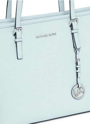 Detail View - Click To Enlarge - Michael Kors - 'Jet Set Travel' saffiano leather top zip tote