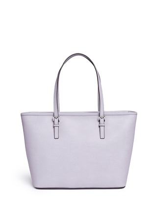 Back View - Click To Enlarge - Michael Kors - 'Jet Set Travel' saffiano leather top zip tote