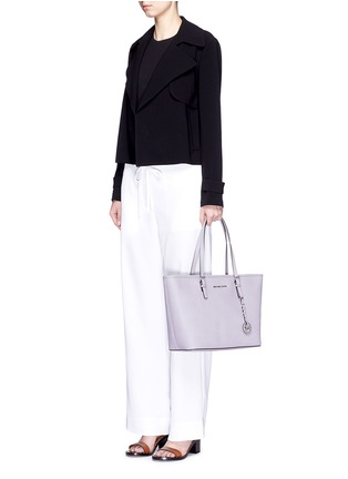 Figure View - Click To Enlarge - Michael Kors - 'Jet Set Travel' saffiano leather top zip tote
