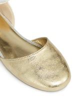'Audrina Sparkle' logo charm metallic d'Orsay kids flats