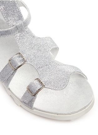 Detail View - Click To Enlarge - Stuart Weitzman - 'Gianna Gladiator' buckled kids sandals