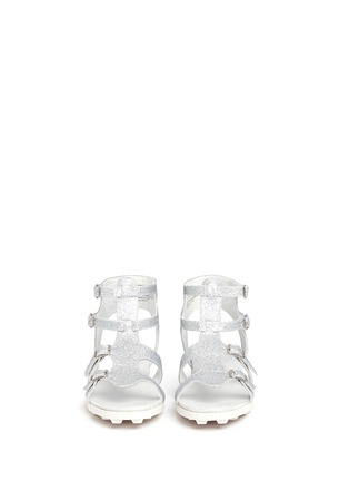 Figure View - Click To Enlarge - Stuart Weitzman - 'Gianna Gladiator' buckled kids sandals
