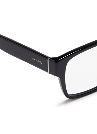 Detail View - Click To Enlarge - Prada - Square acetate optical glasses