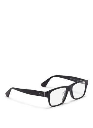 Figure View - Click To Enlarge - Prada - Square acetate optical glasses