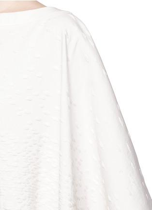 细节 - 点击放大 - AGNONA - 流苏装饰长款斗篷外套