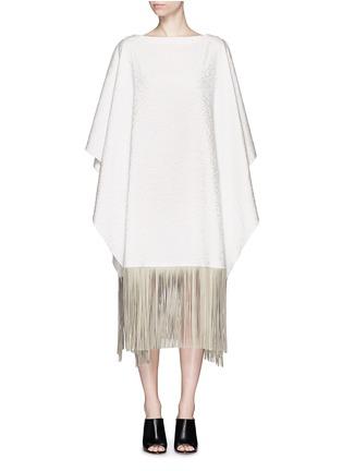 首图 - 点击放大 - AGNONA - 流苏装饰长款斗篷外套