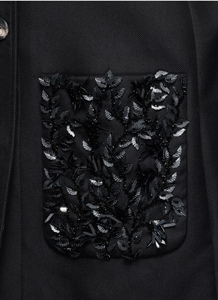 Detail View - Click To Enlarge - Balenciaga - Floral sequin embellished twill cocoon jacket