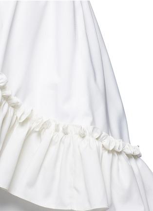 细节 - 点击放大 - BALENCIAGA - 荷叶边拼接纯棉上衣