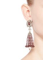 Diamond pearl tourmaline drop earrings