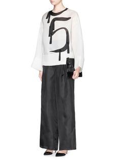 MS MINWide leg silk organza suiting pants
