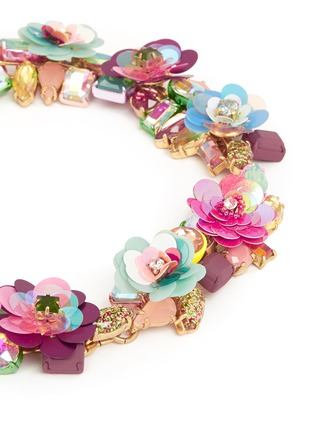 Detail View - Click To Enlarge - J.CREW - Blooming sequin paillette necklace