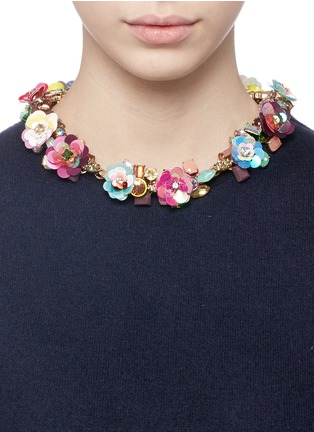 Figure View - Click To Enlarge - J.CREW - Blooming sequin paillette necklace