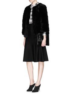 H BRAND'Jagger' kimono sleeve rabbit fur knit jacket