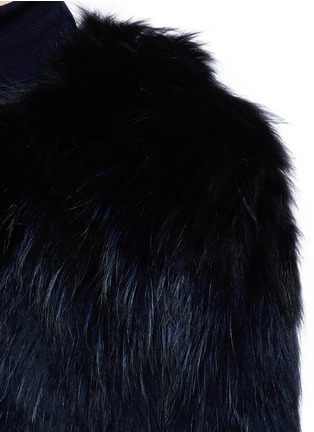 Detail View - Click To Enlarge - H Brand - 'Leila' cropped racoon fur jacket