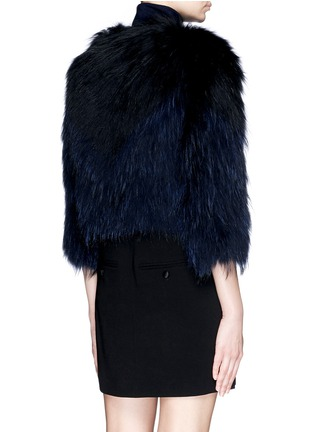 Back View - Click To Enlarge - H Brand - 'Leila' cropped racoon fur jacket