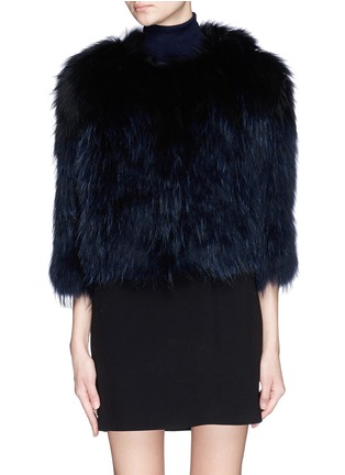 Main View - Click To Enlarge - H Brand - 'Leila' cropped racoon fur jacket