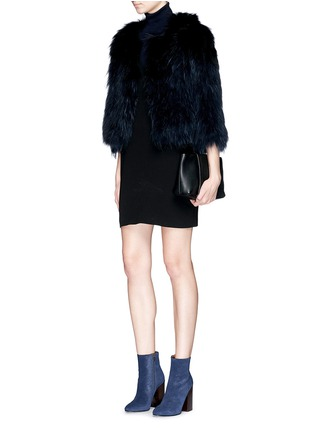 Figure View - Click To Enlarge - H Brand - 'Leila' cropped racoon fur jacket
