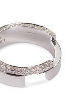 Diamond 18k white gold cutout ring