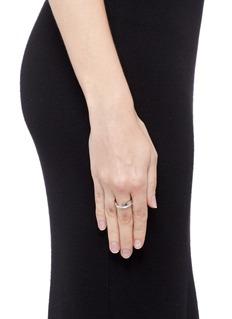 Dauphin Diamond 18k white gold cutout ring