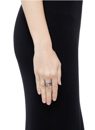 Figure View - Click To Enlarge - Dauphin - Diamond black rhodium plated 18k white gold seven tier ring