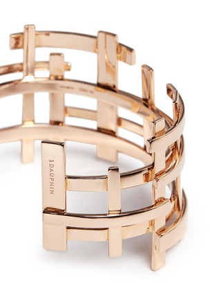 Detail View - Click To Enlarge - Dauphin - 18k rose gold openwork lattice cuff