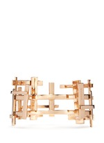 18k rose gold openwork lattice cuff