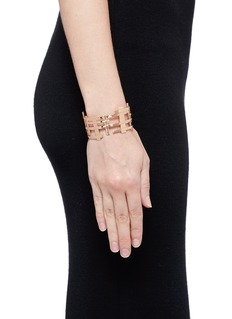 Dauphin 18k rose gold openwork lattice cuff