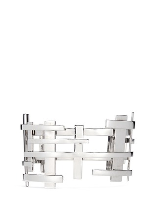 Dauphin-18k white gold openwork lattice cuff