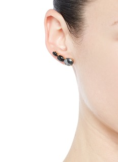 ELA STONE 'Lior' graduating stone earrings