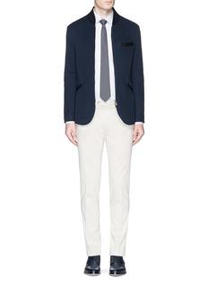 Armani CollezioniCotton mesh zip jacket