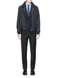 Armani CollezioniNotch lapel wool-cashmere blazer