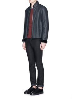 Armani CollezioniShearling blouson jacket