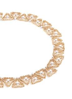 Buccellati Diamond 18k gold openwork necklace