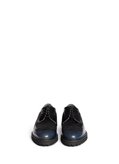 ARMANI COLLEZIONI Calf hair leather brogues