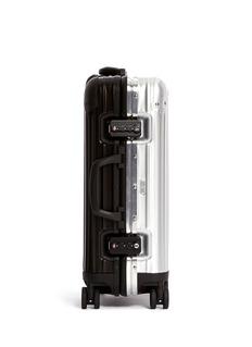 RIMOWA Topas Stealth Special Cabin Multiwheel® IATA (Two-Tone:Black & Silver, 32-litre)