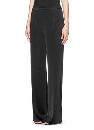 Front View - Click To Enlarge - ST. JOHN - Liquid satin wide leg pants
