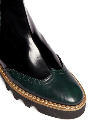 Detail View - Click To Enlarge - Fabio Rusconi - 'Abrasivato' brogue leather Chelsea boots