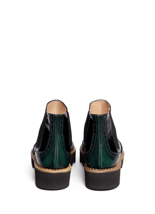 Back View - Click To Enlarge - Fabio Rusconi - 'Abrasivato' brogue leather Chelsea boots