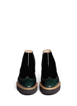 Figure View - Click To Enlarge - Fabio Rusconi - 'Abrasivato' brogue leather Chelsea boots