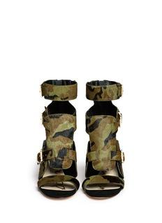 SAM EDELMAN'Perth' camouflage calf hair sandals