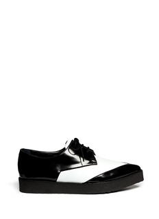PIERRE HARDY Colourblock leather lace-up creepers