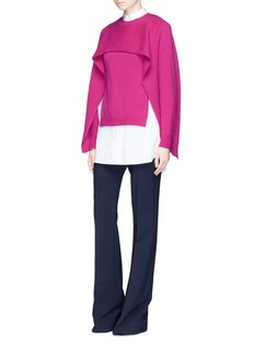 Valentino Cropped cashmere capelet sweater