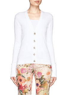 TORY BURCH 'Shrunken Simone' stitch-down roll-cuff cardigan