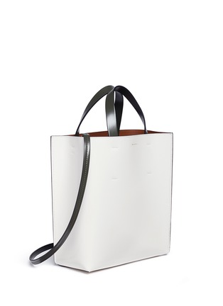Detail View - Click To Enlarge - Marni - 'Museo' leather shopper tote with removable drawstring bag