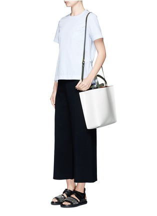 Figure View - Click To Enlarge - Marni - 'Museo' leather shopper tote with removable drawstring bag