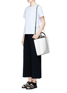 Marni'Museo' leather shopper tote with removable drawstring bag
