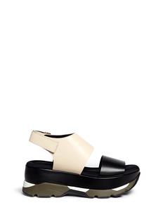 MarniSneaker sole colourblock leather sandals